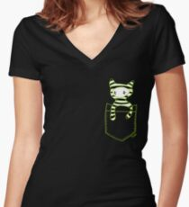Pocketbuddy3 Women's Fitted V-Neck T-Shirt