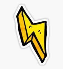 cartoon lightning bolt Sticker
