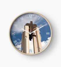 Church tower cross symbol Clock