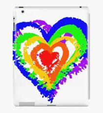 Rainbow Heart from brush strokes iPad Case/Skin