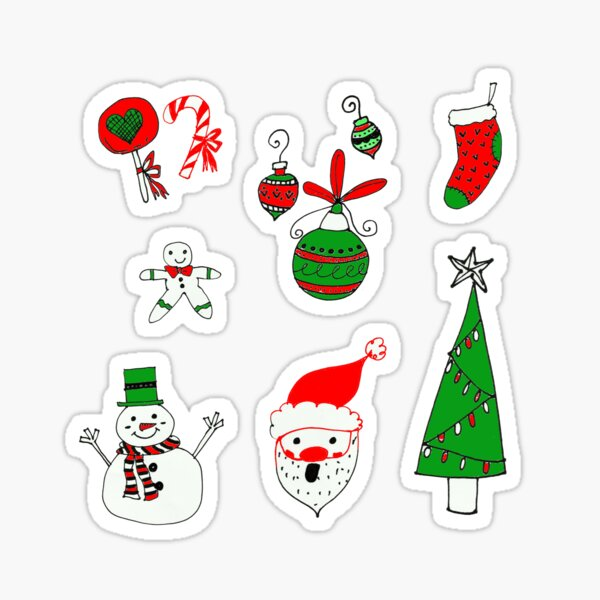Christmas Doodles  Sticker