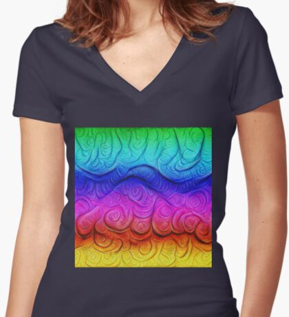 Color Foam levels #DeepDream Fitted V-Neck T-Shirt