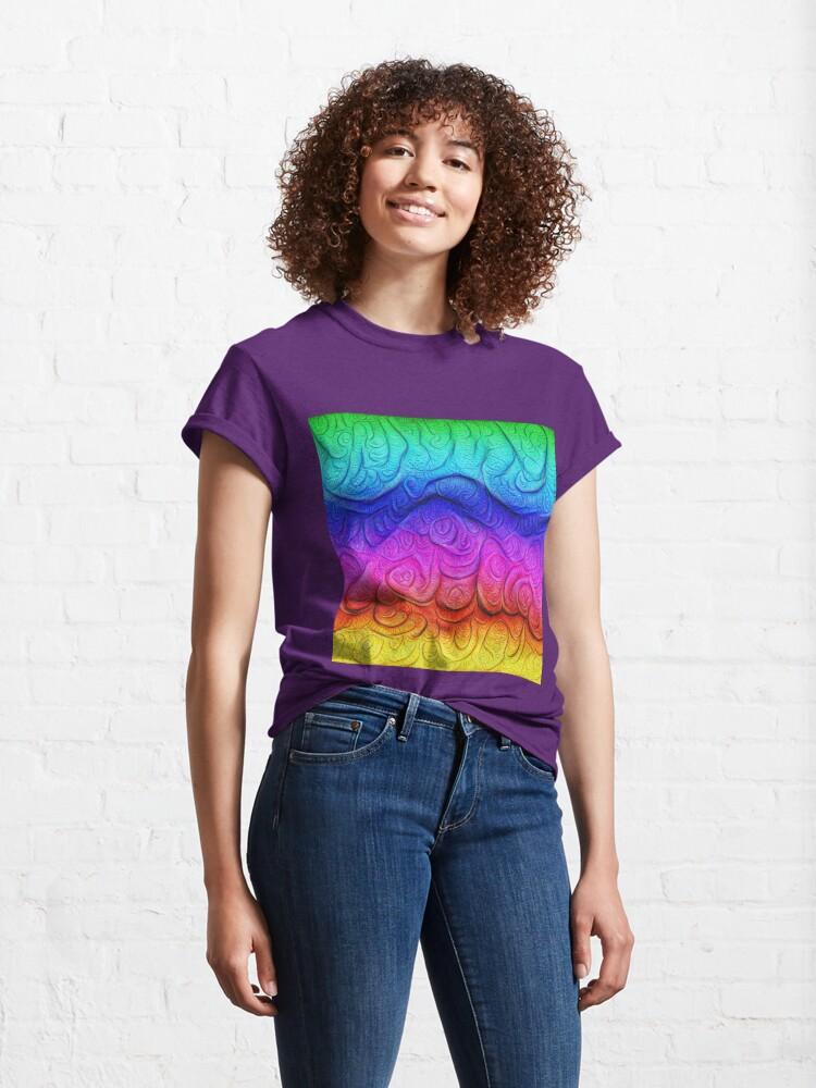 Alternate view of Color Foam levels #DeepDream Classic T-Shirt