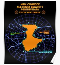 Escape From New Cumnock Penitentiary Map Poster