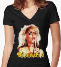 Blondie - Deborah Harry - 1970s Women's Fitted V-Neck T-Shirt