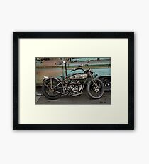 Rusty Indian Scout Bobber Framed Print