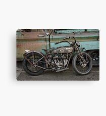 Rusty Indian Scout Bobber Canvas Print