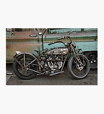 Rusty Indian Scout Bobber Photographic Print