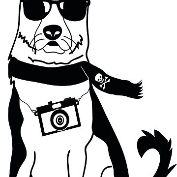 Hipster German Shepherd / Alsatian - Cute Dog Cartoon Character by designedbyn