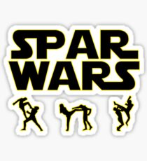 SPAR WARS TAEKWONDO MMA KARATE Sticker