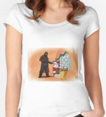 Omar Little strikes again Women's Fitted Scoop T-Shirt