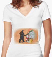 Omar Little strikes again Women's Fitted V-Neck T-Shirt