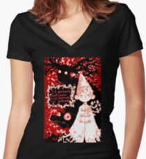 Temptation of the Beast Women's Fitted V-Neck T-Shirt