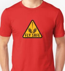 Fly Safe Sign Slim Fit T-Shirt