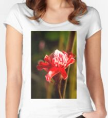 Red Flower - Macro Photography Women's Fitted Scoop T-Shirt