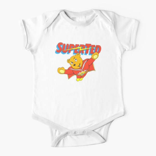 Super Ted Short Sleeve Baby One-Piece