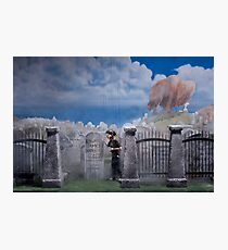 A Visit to the Cemetary Photographic Print