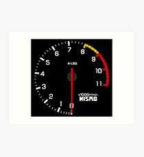 NISSAN N カ イ ン ン (NISSAN Skyline) R33 NISMO rev counter Art Print
