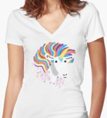 completely love this unicorn Women's Fitted V-Neck T-Shirt