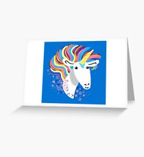 completely love this unicorn Greeting Card