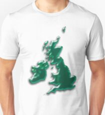 Great Britain  Map Slim Fit T-Shirt