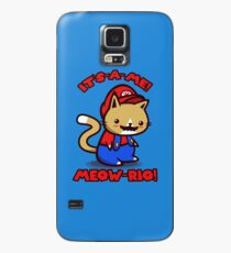 It's-a-me! Meow-rio! (Text ver.) Case/Skin for Samsung Galaxy