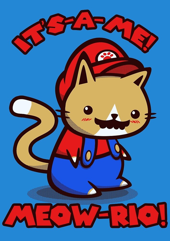It's-a-me! Meow-rio! (Text ver.) by Squidgee