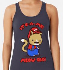 It's-a-me! Meow-rio! (Text ver.) Women's Tank Top