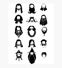 The Bearded Company Black and White Photographic Print