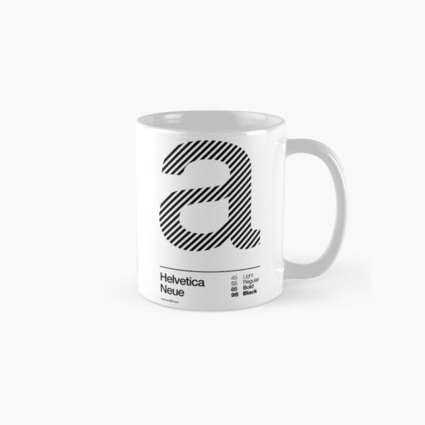 a .... Helvetica Neue (b) Classic Mug