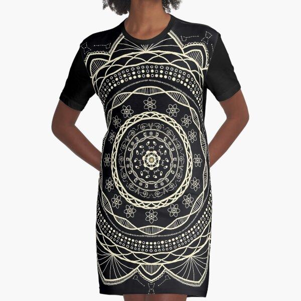 Science Mandala Pattern Graphic T-Shirt Dress