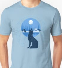 Snowy Howling Wolf T-Shirt
