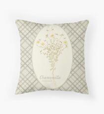 Chamomile Bees (natural) Throw Pillow