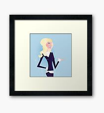 New blond business girl : New in shop Framed Print