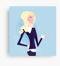 New blond business girl : New in shop Canvas Print