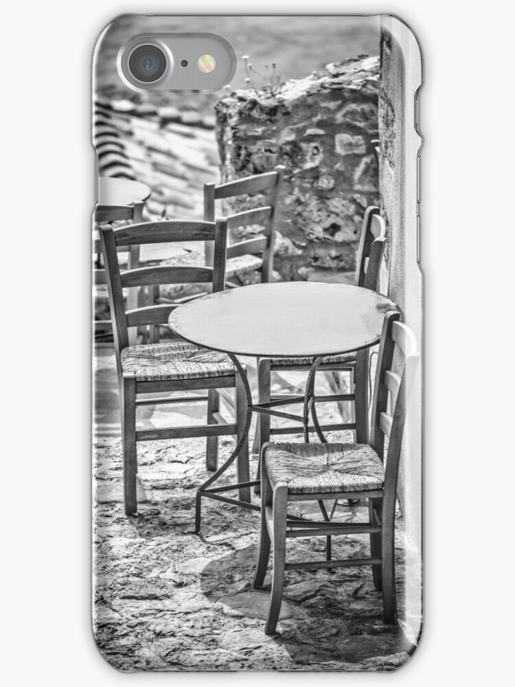 It's summertime, take your chairs and tables out in the sunshine by Aikaterini  Koutsi Marouda