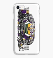 Louisiana State University Stadium Marker Sketch iPhone Case/Skin
