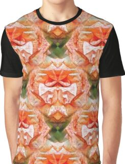 Abstract Peach Rose Flower Graphic T-Shirt