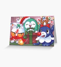 Shiny Holiday Starters Greeting Card