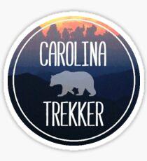 Carolina Trekker Clingmans Dome Logo badge Sticker