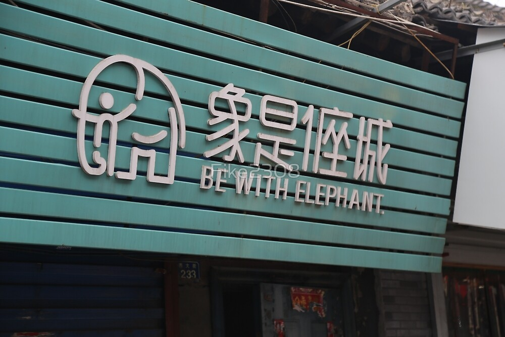 Sign in China: Be With Elephant  by Fike2308
