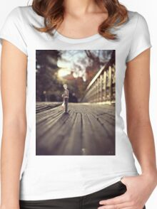 stood up - central park Women's Fitted Scoop T-Shirt