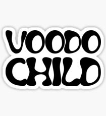 jimi hendrix voodo child rock lyrics hippie t shirts Sticker