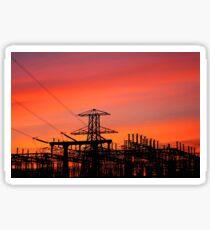 Electric sunset Sticker
