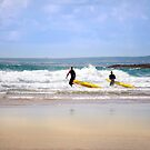 lifeguards training in the surf by morrbyte