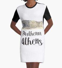 Parthenon watercolor Graphic T-Shirt Dress
