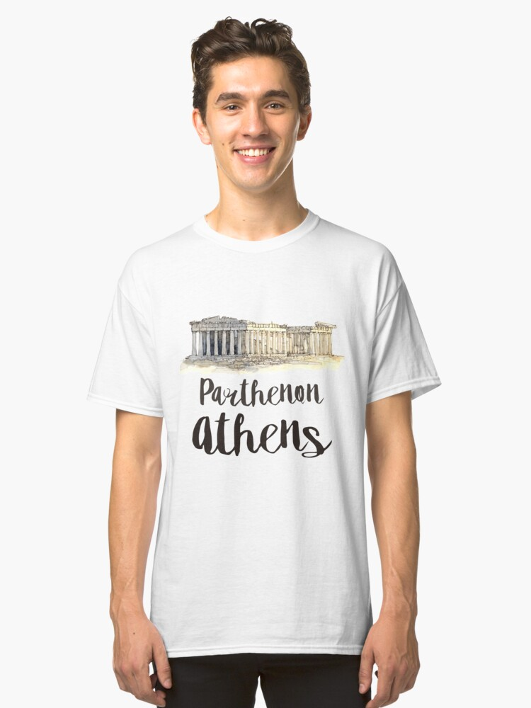 Alternate view of Parthenon watercolor Classic T-Shirt
