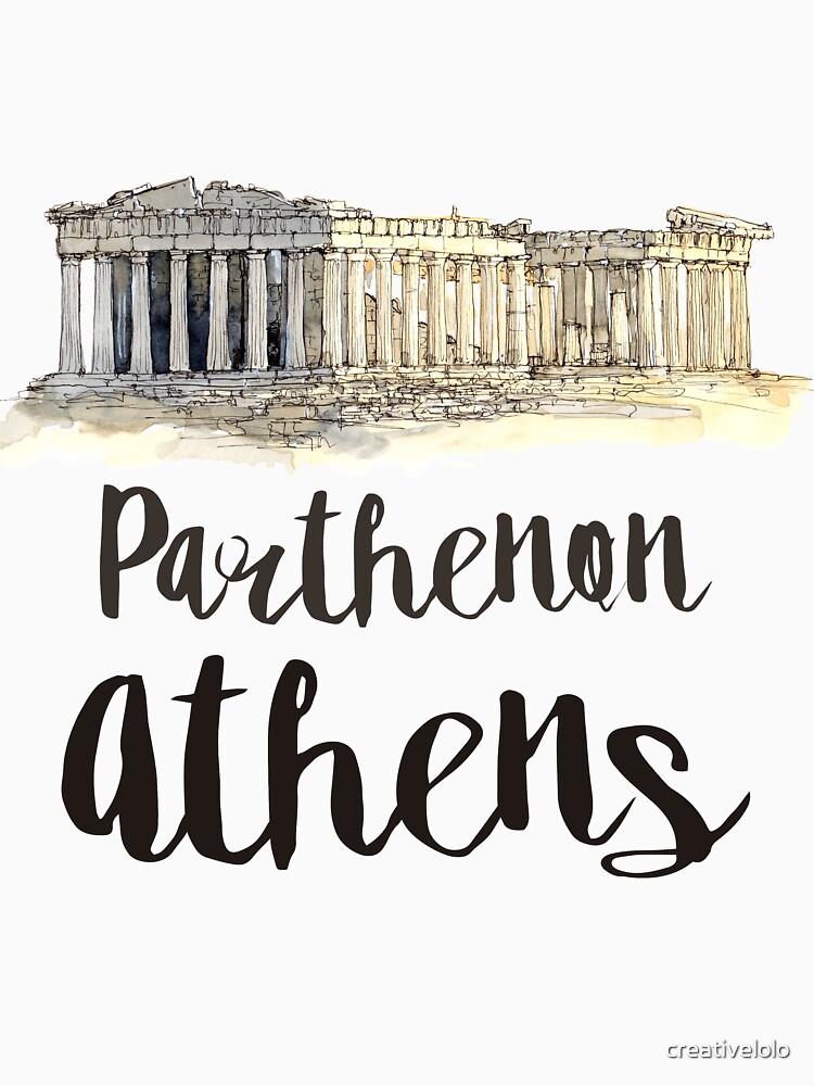 Parthenon watercolor by creativelolo