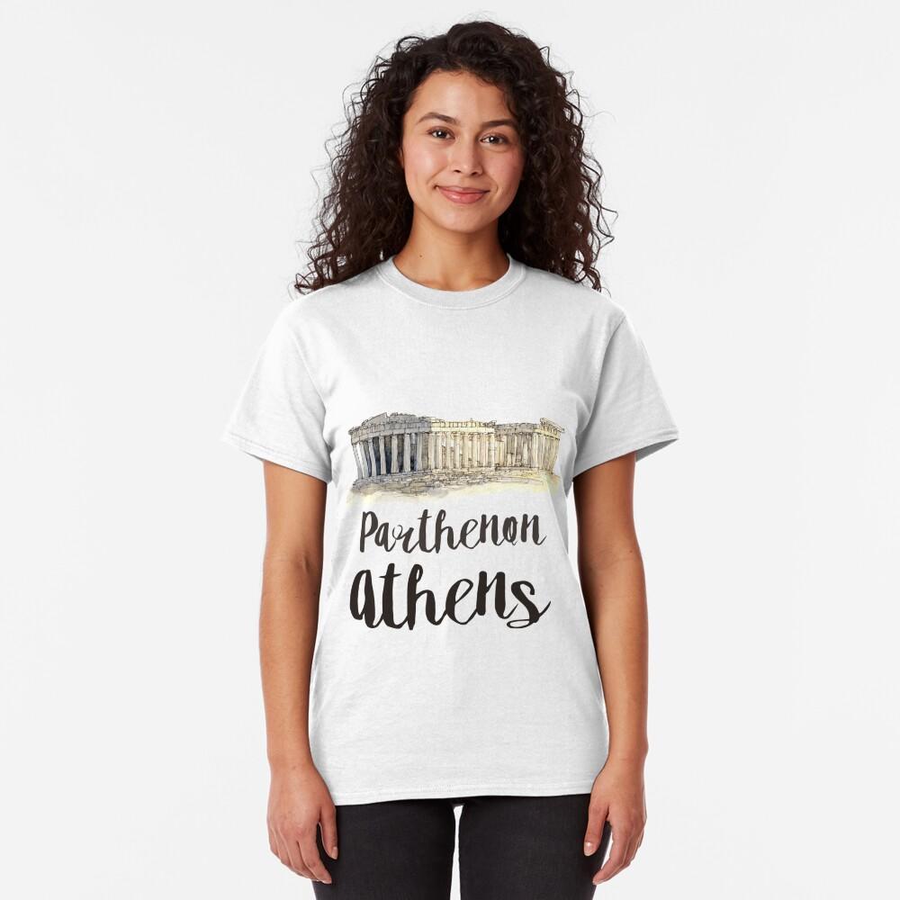 Parthenon watercolor Classic T-Shirt