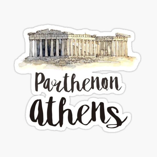 Parthenon watercolor Sticker